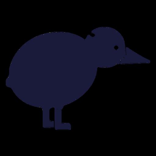 Kiwi de silueta de pájaro Transparent PNG