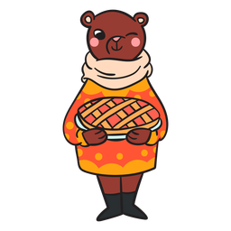 Cartoon flat bear