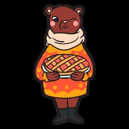 Urso plana dos desenhos animados