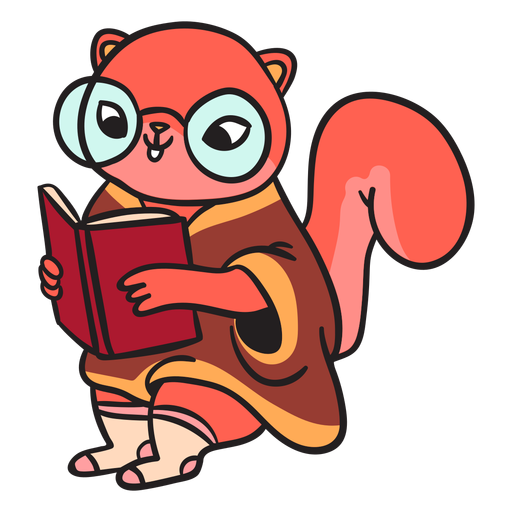 Animal de ardilla plana de dibujos animados Transparent PNG