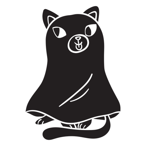 Cat halloween black ghost Transparent PNG