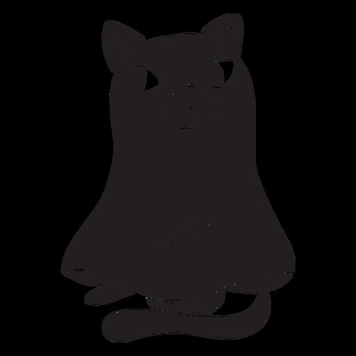 Gato halloween fantasma negro Transparent PNG