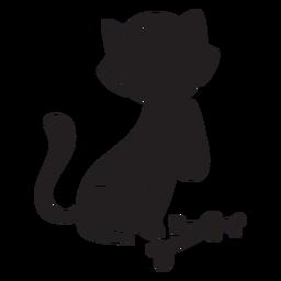 Gato halloween calavera negra