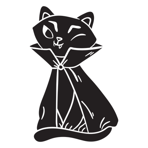 Cat halloween black vampire Transparent PNG