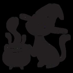 Gato veneno de bruxa de halloween