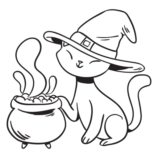 Cat poison stroke halloween Transparent PNG