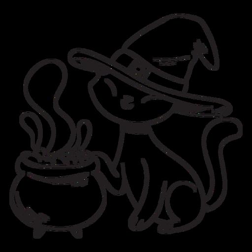 Golpe de veneno de gato halloween