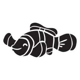 Pez payaso silueta pescado