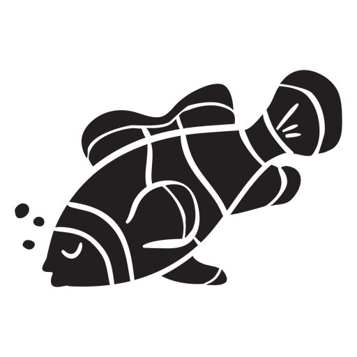 Clown fish silhouette sleep fish