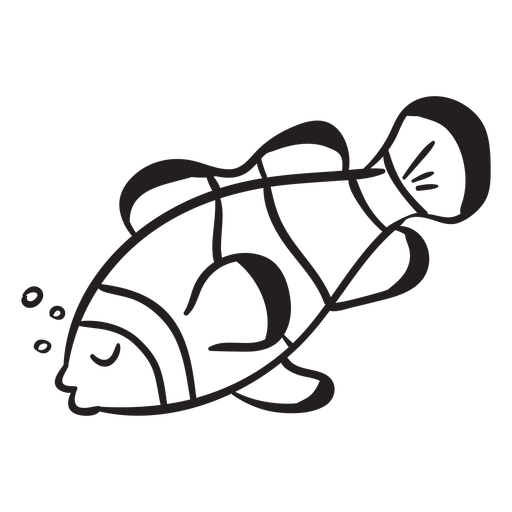 Clown fish sleeps stroke Transparent PNG