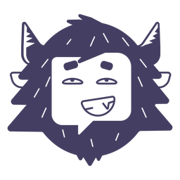 Cool yeti sticker silhouette