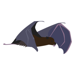 Criatura nocturna de murciélago plano