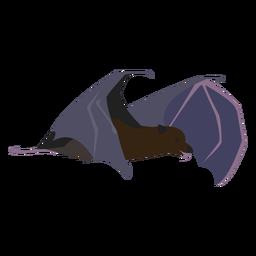 Criatura nocturna murciélago plano