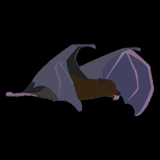 Criatura nocturna de murciélago plano Transparent PNG