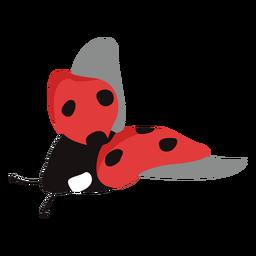 Flat ladybug flying