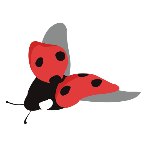 Flat ladybug flying Transparent PNG