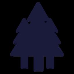 Silhuetas de árvores da floresta