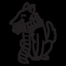 Animal de traço de raposa