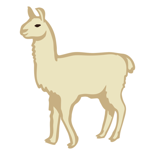 Llama animal stands Transparent PNG