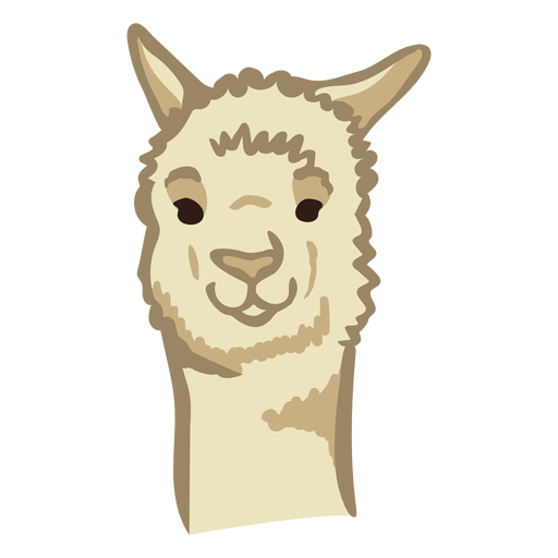 Llama cute face Transparent PNG
