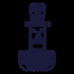 Neuseeland-Schattenbildmann