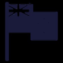 Neuseeland Flagge Silhouette