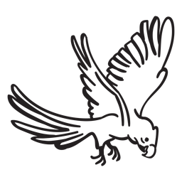 Papagei fliegenden Schlaganfall
