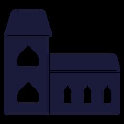 Edificio de la casa de silueta