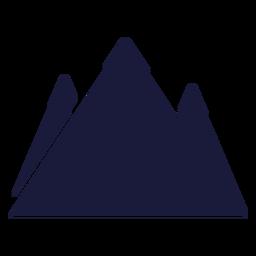 Montaña de la silueta