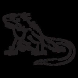 Curso de lagarto sentado