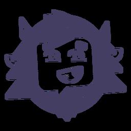 Silhueta de adesivo yeti sorriso