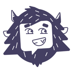 Smile yeti sticker silhouette