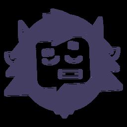 Emoji de personagem de boneco de neve