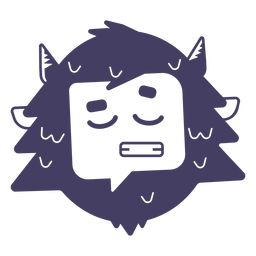 Muñeco de nieve personaje emoji