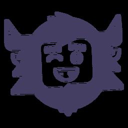 Snowman character smile emoji