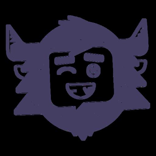 Carácter de muñeco de nieve sonrisa emoji Transparent PNG