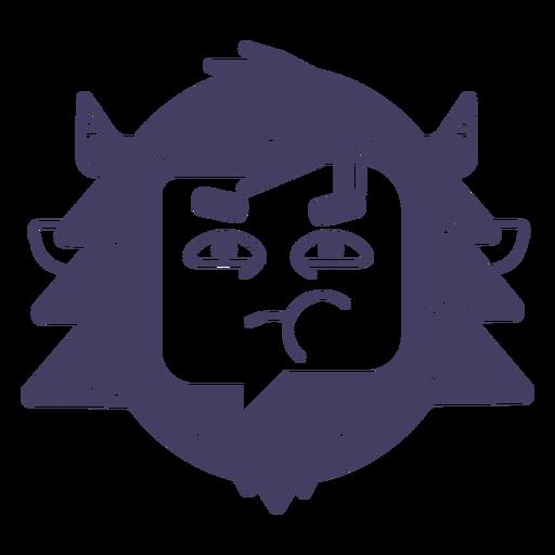 Snowman character sticker Transparent PNG