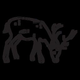 Curso cervos comendo