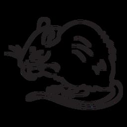 Curso de rato comendo
