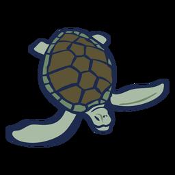 Animal de tartaruga de cor plana