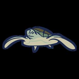 Tartaruga nadando em um apartamento de animal
