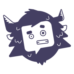 Yeti character sticker