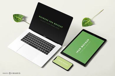 Technological devices mockup composition