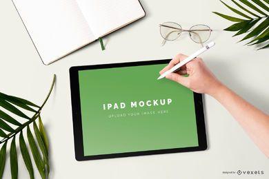 Composición de la maqueta de ipad