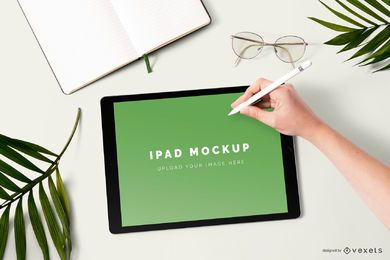 Ipad mockup composition