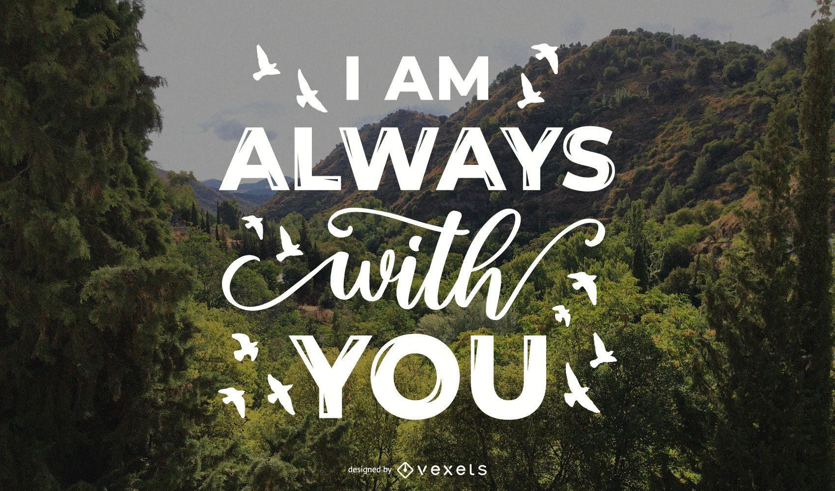 Always with you memorial lettering