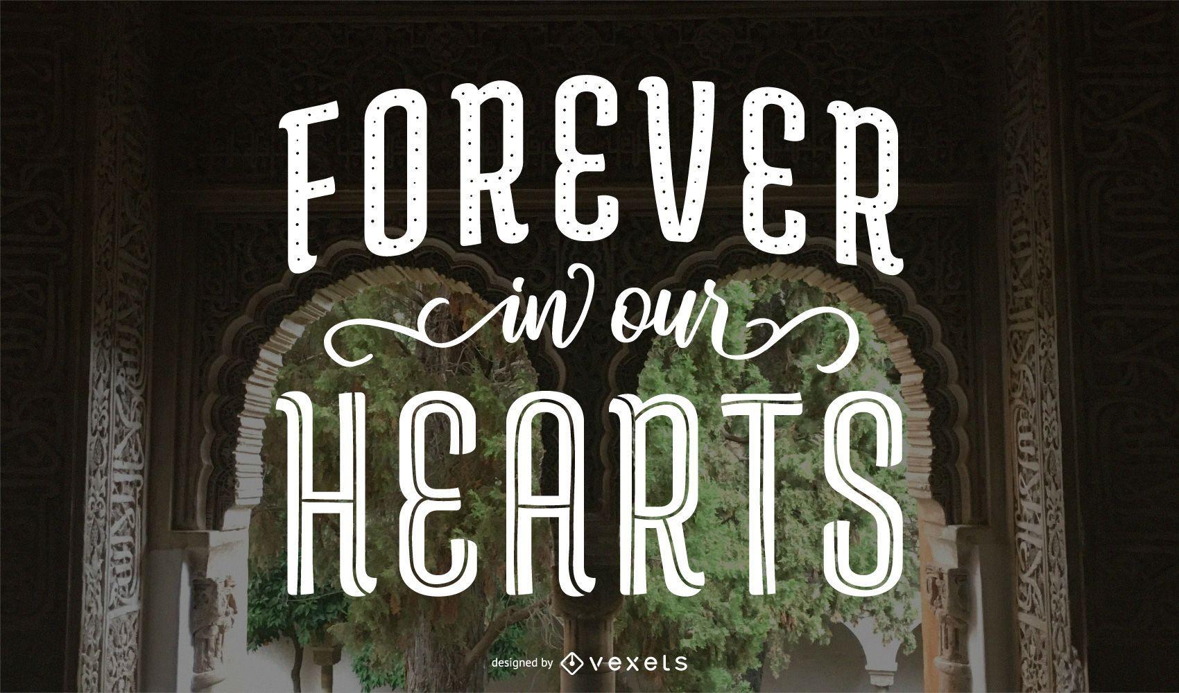 Siempre en nuestros corazones letras conmemorativas