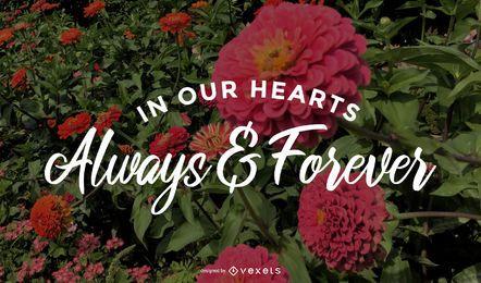 Letras conmemorativas siempre y para siempre