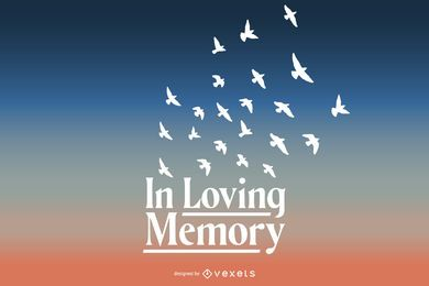 In loving memory lettering design