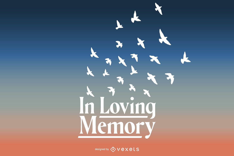 No amor com design de letras de memória